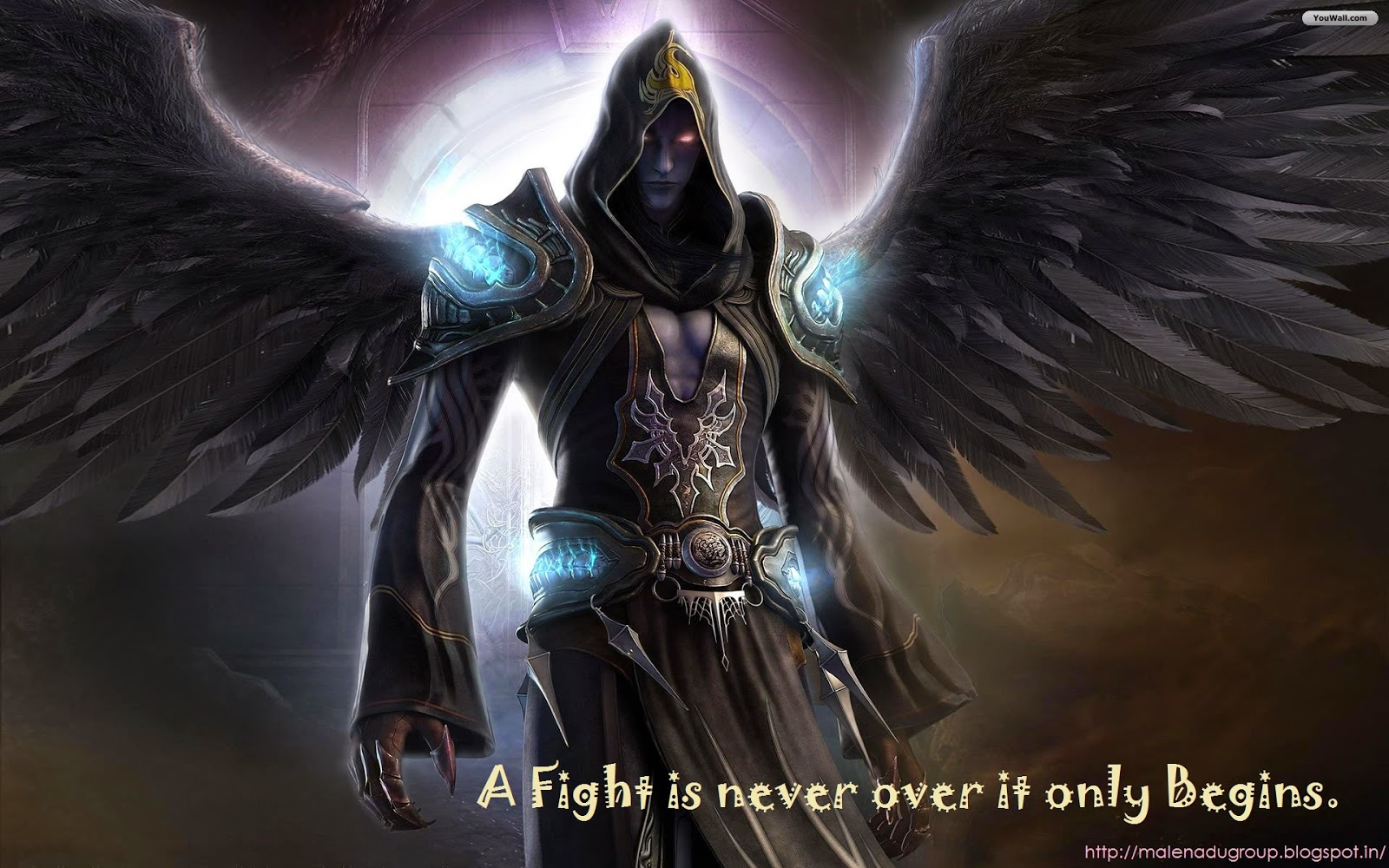 Beginning of Fight Inspirational Wallpaper Quotes