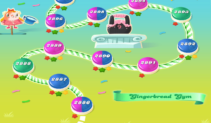 Candy Crush Saga level 2886-2900
