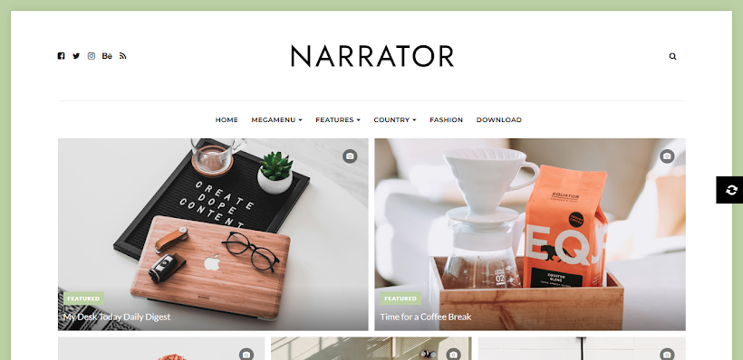 Narrator Free Blogger Template