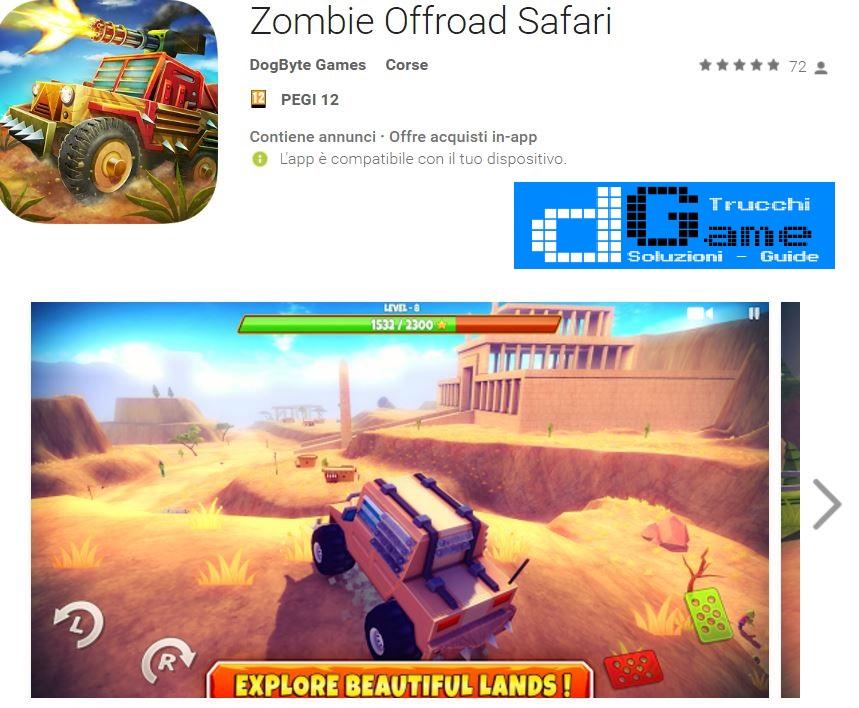 Trucchi Zombie Offroad Safari Mod Apk Android v1.0