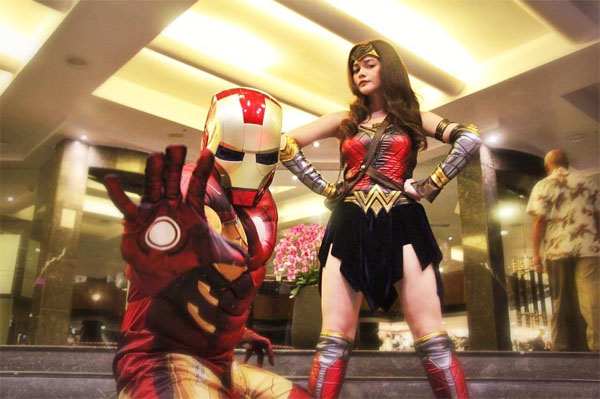 Bea Alonzo dresses up as Wonderwoman; Gerlad Anderson as Iron Man
