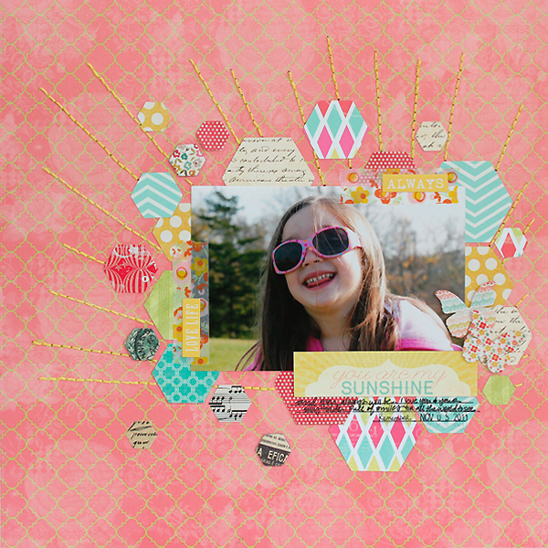 You Are My Sunshine Layout by Juliana Michaels