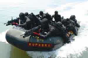 gambar Kopaska TNI-AL merupakan Komando Pasukan Katak atau lebih dikenal dengan sebutan Kopaska didirikan 31 Maret 1962