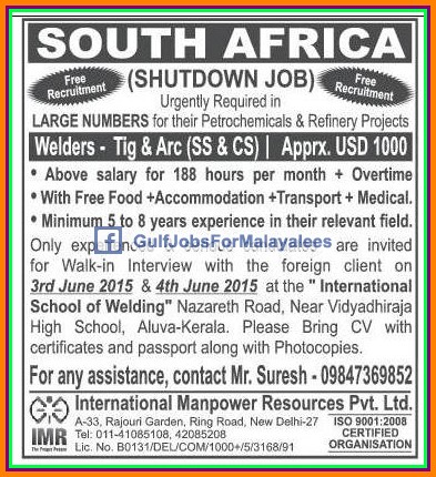 Free Job Recruitment For South Africa Gulf Jobs For