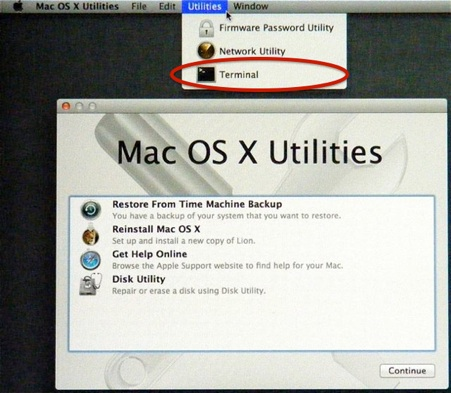 How to reset the password in MacOSX Lion/Mountain Lion when forgotten or lost