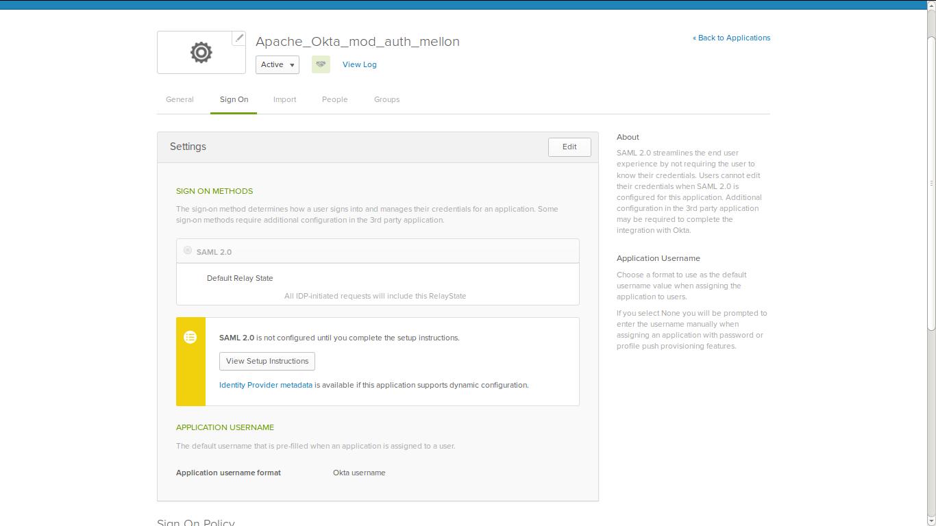 Chendil's Blog: Okta integration with Apache using