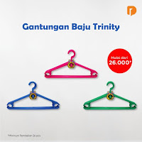Dusdusan Gantungan Baju Trinity (Set of 24) ANDHIMIND