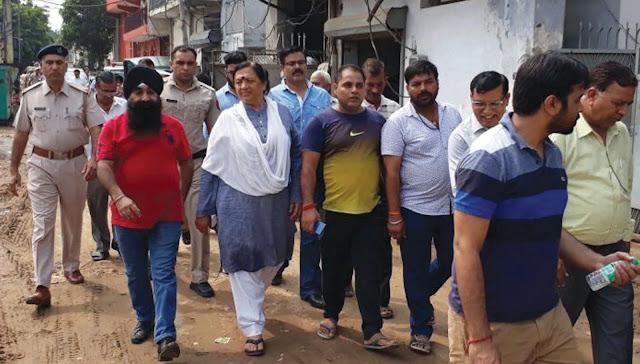 seema-trikha-mla-visit-industrial-area-badkhal-constituency-faridabad