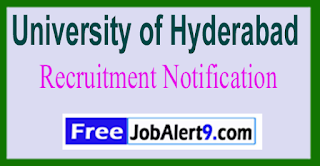 University of Hyderabad Recruitment Notification 2017 Last Date 19-06-2017