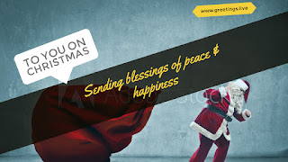 To you on Christmas Sending blessings of peace & happiness