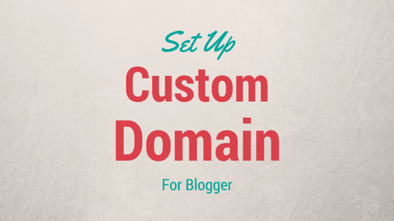 custom domain for blogger