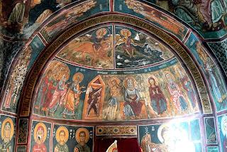 Foto de un fresco en la Iglesia de Asinou