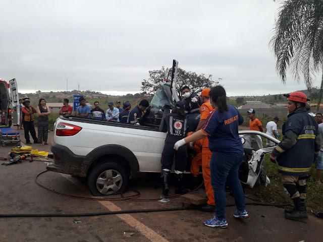 Tragédia! Dois mortos em colisão frontal na BR-010 no Maranhão
