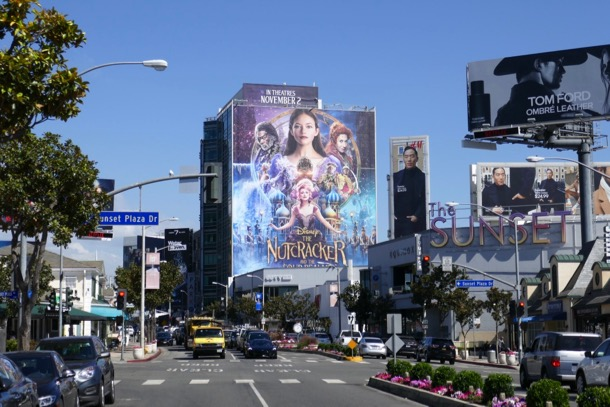 Nutcracker and Four Realms billboard