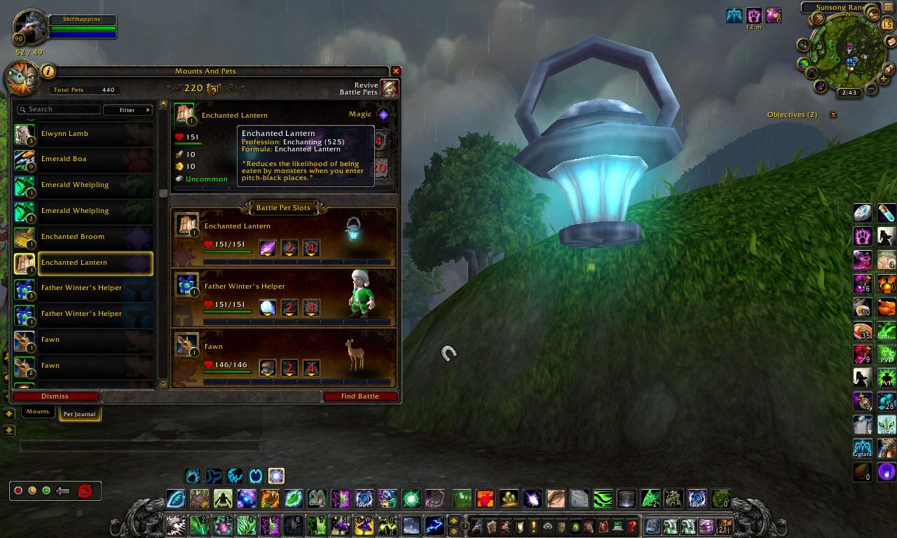 Wow Companion Collector Enchanted Lantern Uncommon Lvl 1
