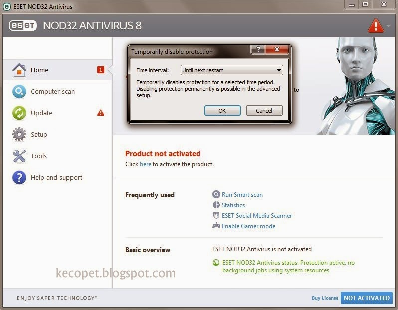 Install Antivirus ESET NOD32 - No Trial | Kecopet Blog