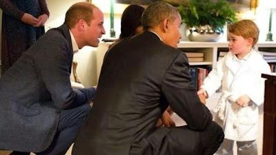 Lihat! Lucu Deeh, Pangeran George Saat Temui Presiden Obama