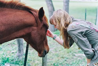 horse with girl
