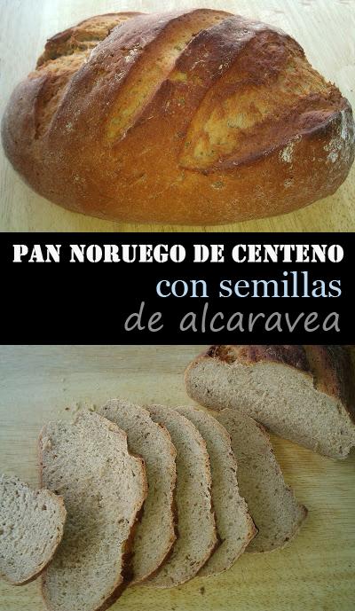 PAN NORUEGO DE CENTENO, CON SEMILLAS DE ALCARAVEA NORUEGA HOGAZA BREAD RYE CARAWAY PANIFICADORA
