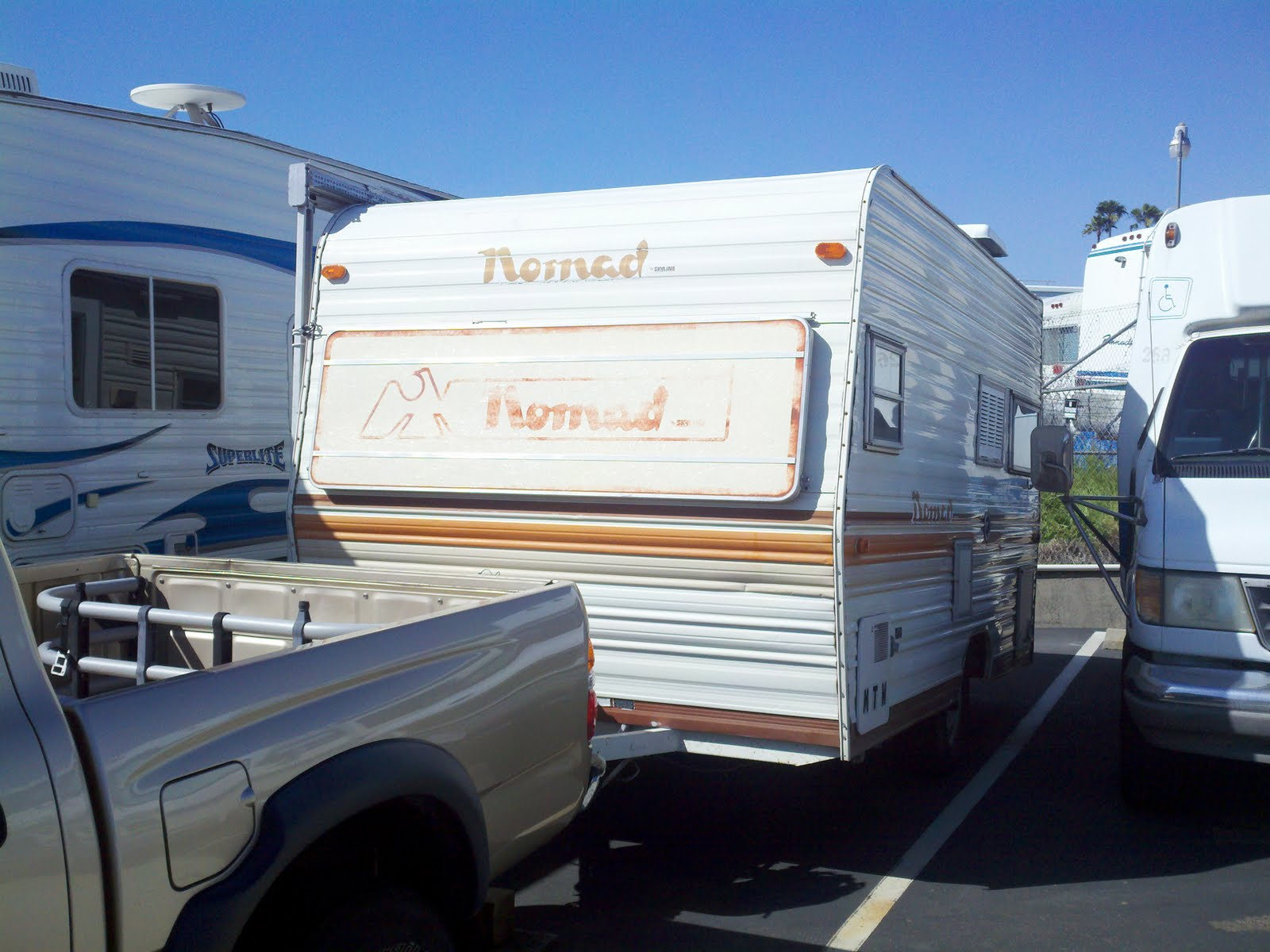 sweet lime 1979 nomad travel trailer and the start of the grand adventure. Black Bedroom Furniture Sets. Home Design Ideas