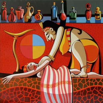 Massage aux huiles essentielles (Copyright Fotolia !)