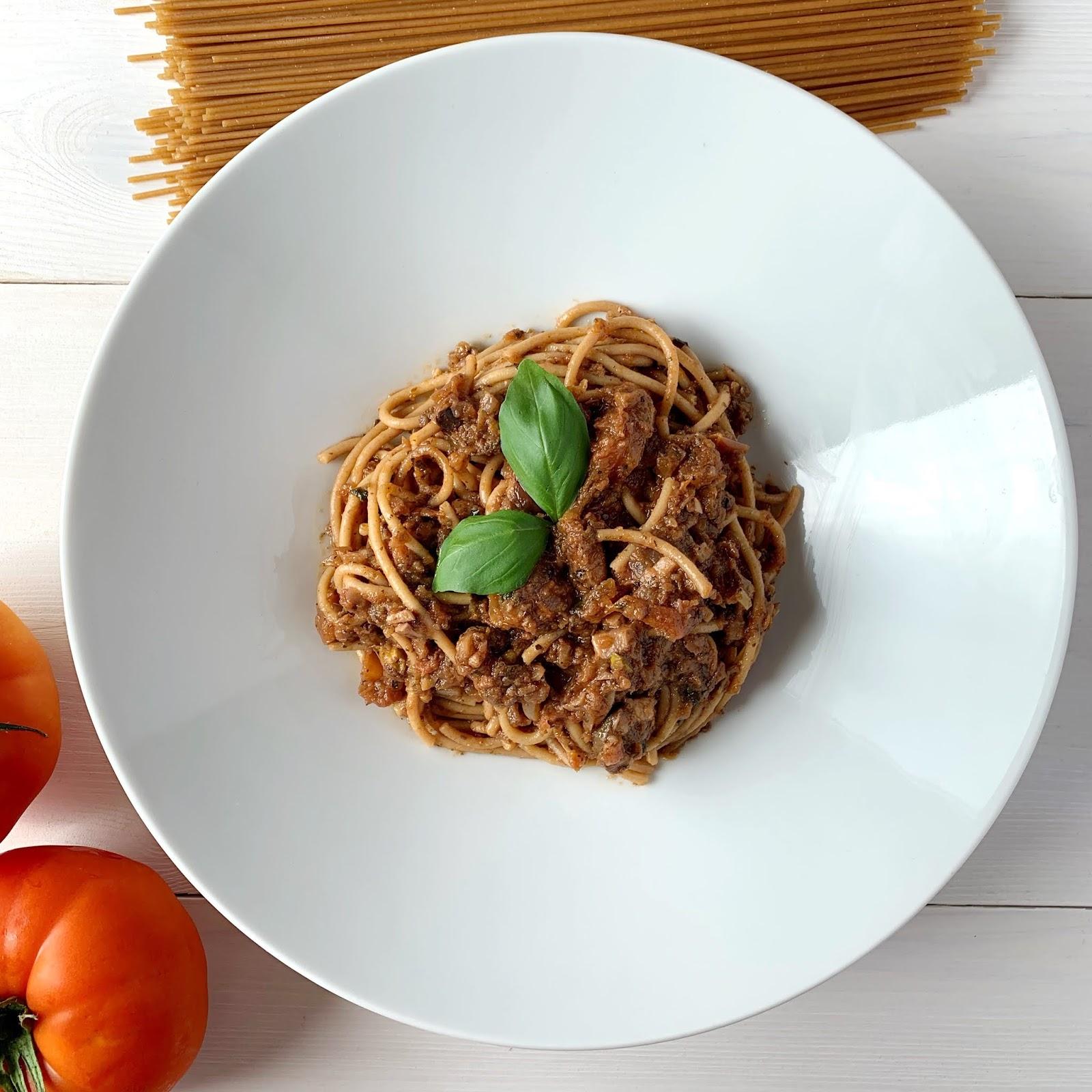 Spaghetti z pistacjami