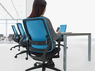 Global Sora Task Chair 6942 - Responsive Chair with Weight Sensing Mechanism