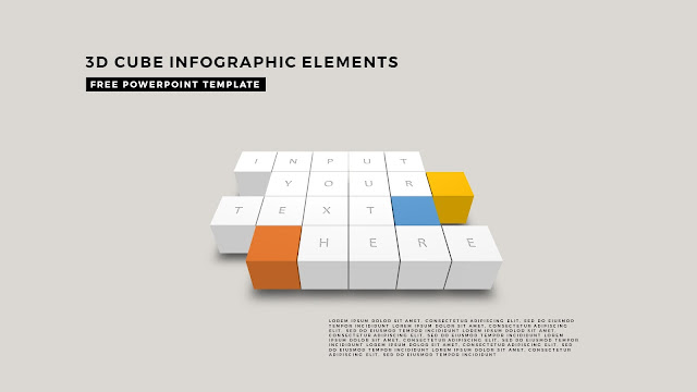 3D Cube Infographic Elements for Free PowerPoint Template Design Slide 13