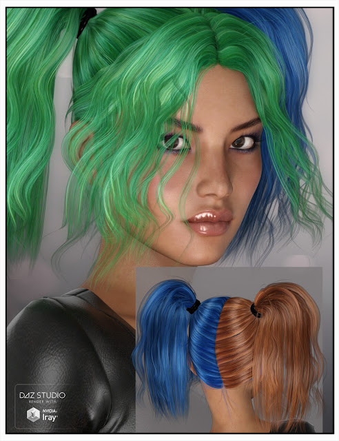 H-Lee Hair for Genesis 3 Female