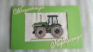 Kartka z traktorem