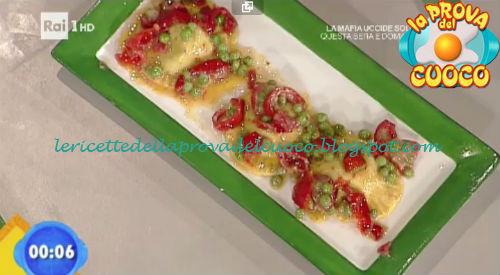 Ravioli di ricotta di caprino e piselli ricetta Salvatori da Prova del Cuoco