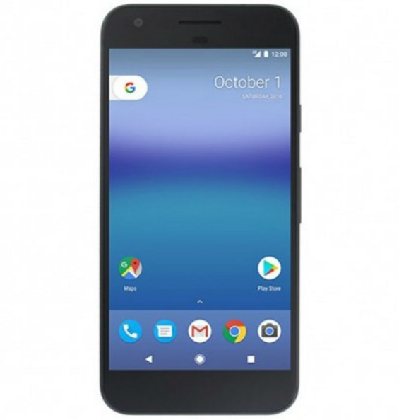 Pixel: Official render with Android 7.1 Nougat UI