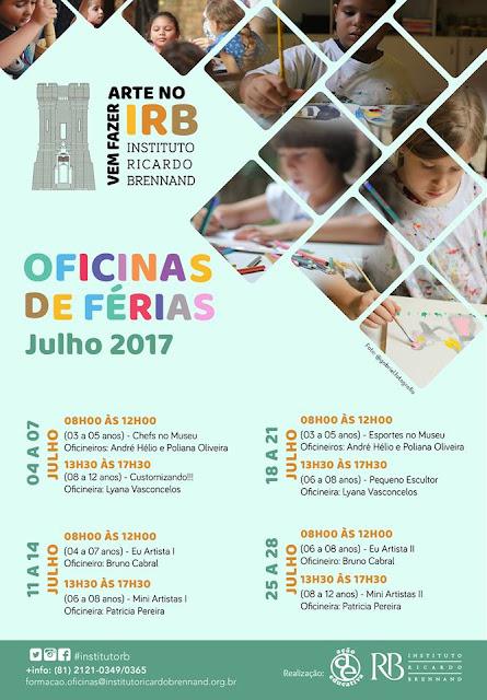 Colônia de férias no Instituto Ricardo Brennand