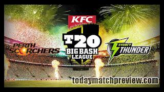 Today BBL 2019 17th Match Prediction Perth vs Thunder