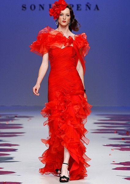 vestidos de novia en rojo