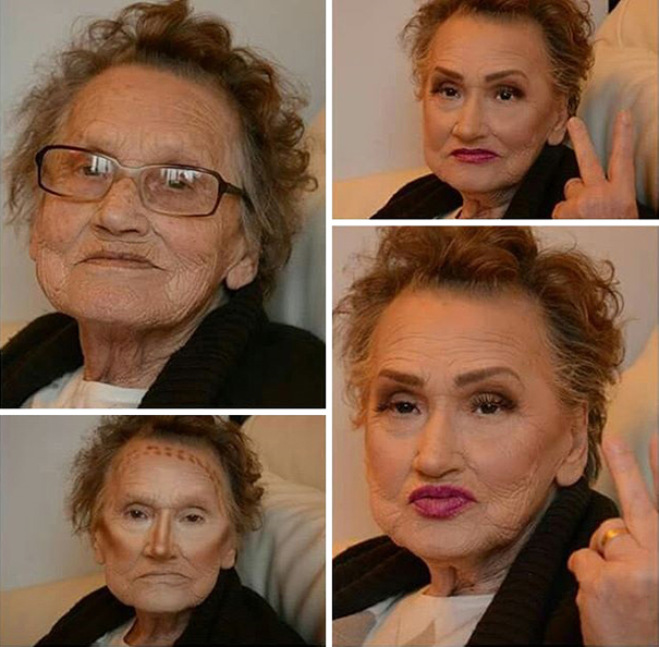 """Being in a nursing home and getting reactions from all over the world, means a lot to her"" - 80-Year-Old Grandma Asks Her Granddaughter For A Makeup, Becomes Internet Sensation"