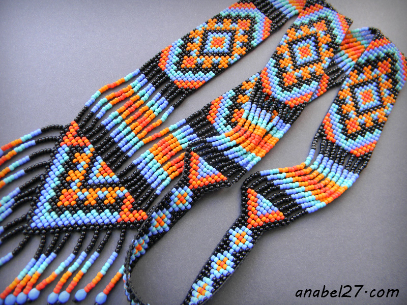 split loom necklace beadwork beadweaving jewelry