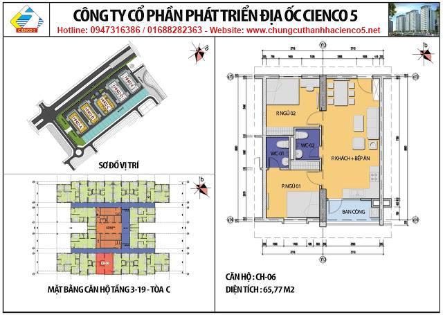 Sơ đồ thiết kế căn 06 chung cư B2.1 HH02C Thanh Hà Cienco 5