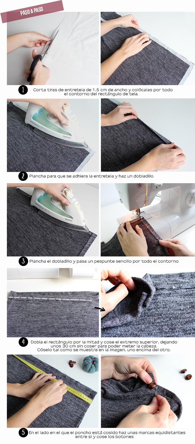 miscelánea diy: DIY | Cómo hacer un poncho-manta de tela