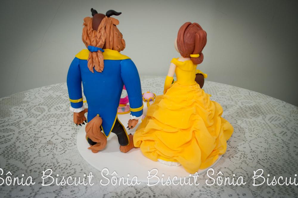 Topo de Bolo - A Bela e a Fera