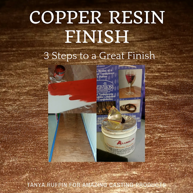 Copper resin finish - Tanya Ruffin with Geaux Create It