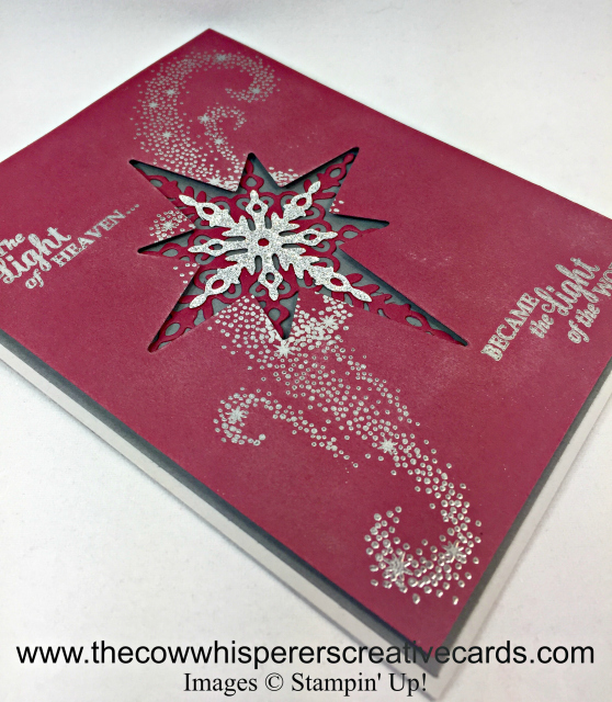 Card, Star Light Thinlits Dies, Star of Light, Embossing, Adhesive Strips
