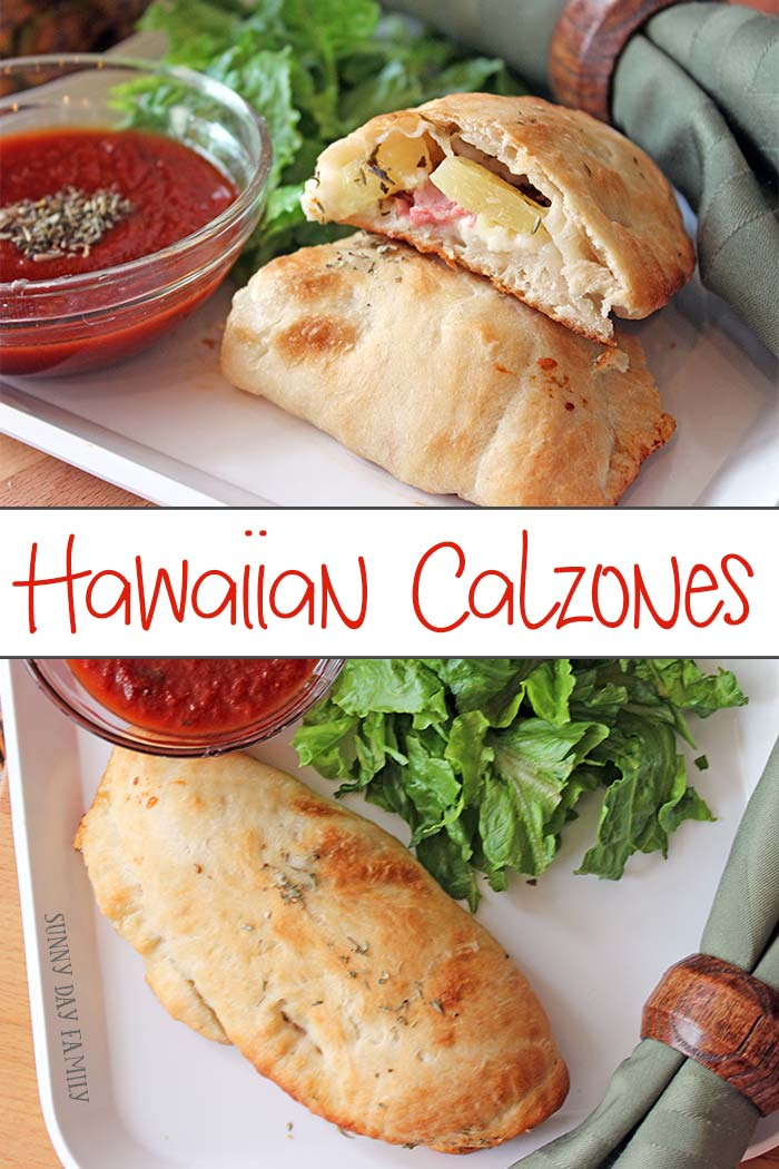 This simple Hawaiian calzone recipe is so easy and your whole family will love it! Just a few ingredients and you've got a yummy meal kids will love.