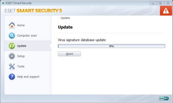 Solved ESET Smart Secuity won t update