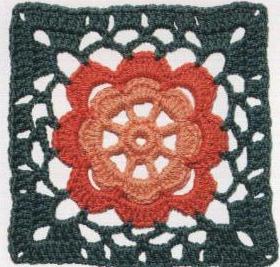 Patrón #1220: Carpeta Flor de Durazno a Crochet