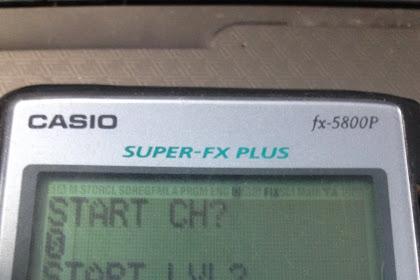 Menghitung kemiringan (SLOPE) dengan program kalkulator casio FX 5800