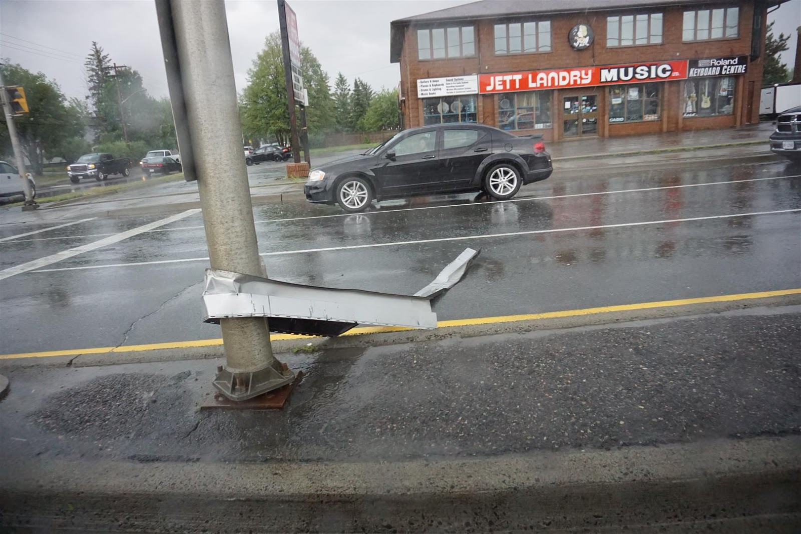 Skid and Sandy On The Road: A Big Storm and Microburst