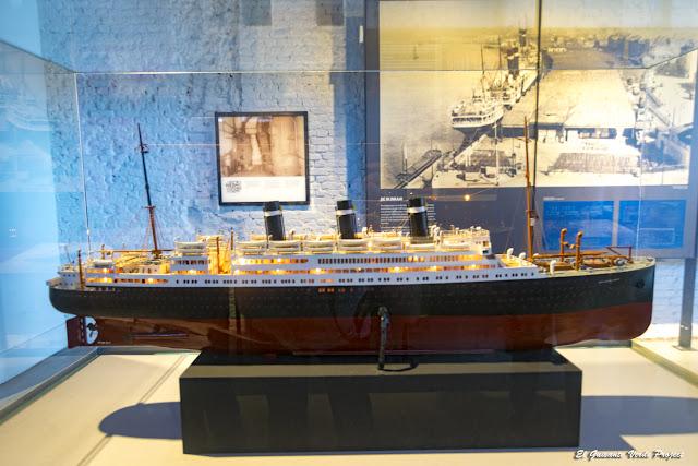 Museo Red Star Line, maqueta de buque oceánico - Amberes por El Guisante Verde Project