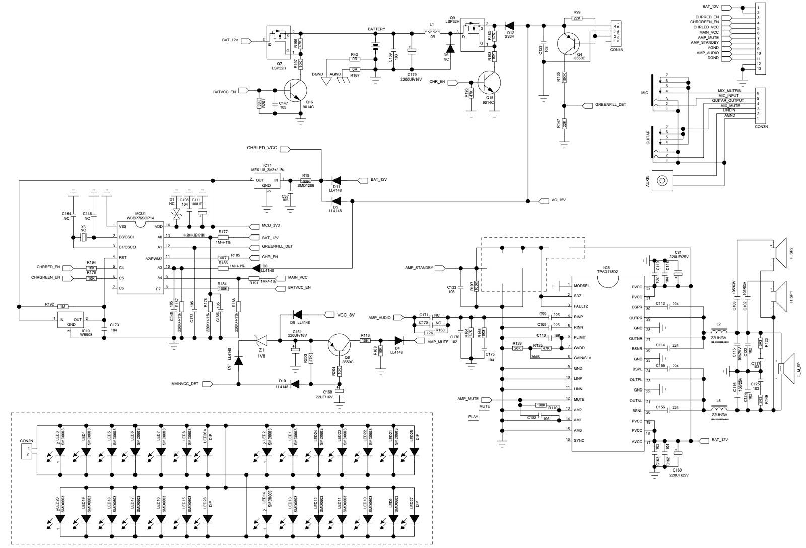manguonblog: PHILCO CAIXA PHT3000 Soundbox- Circuit ...