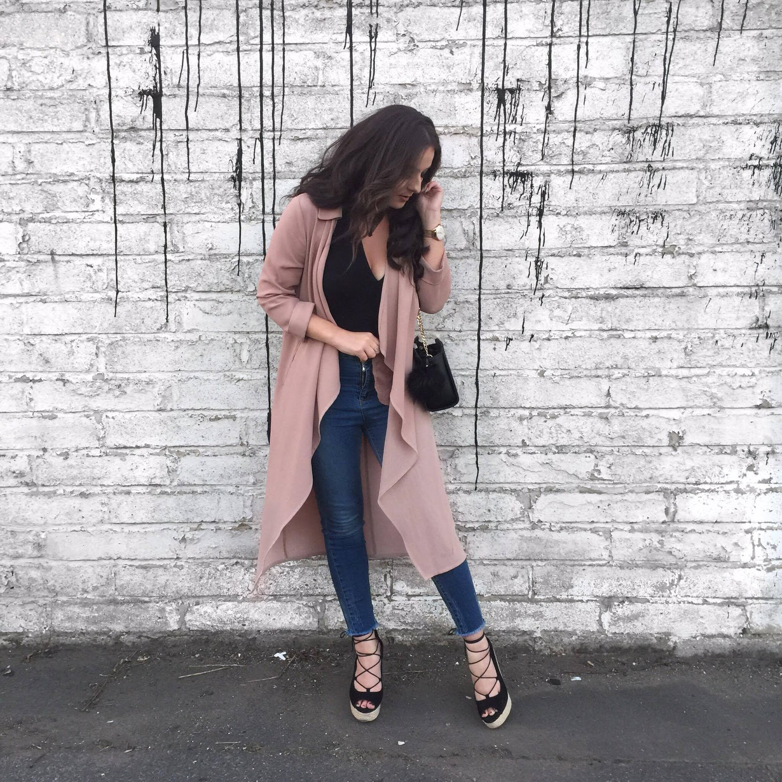 Fashion Blogger Ellie Rees Wearing Waterfall Primark Jacket